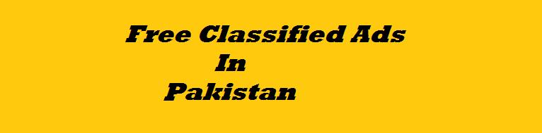 Free Classified Ads In Pakistan