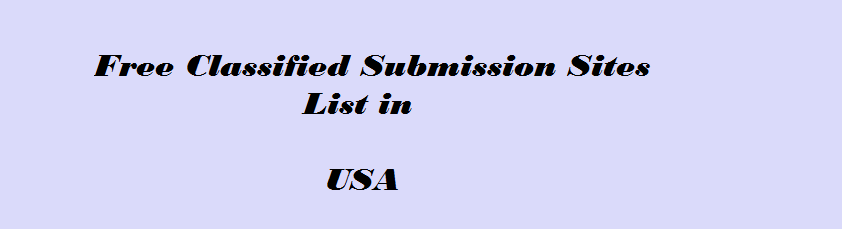 free classified submission sites list in usa