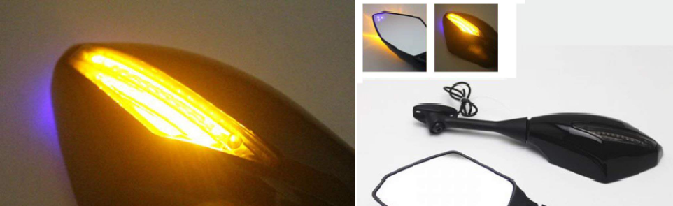 motorcycle mirrors with built in indicators