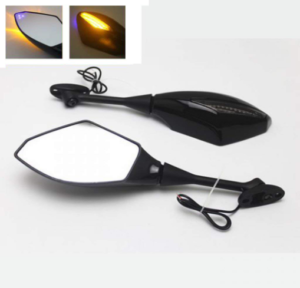 motorcycle mirrors with integrated turn signals