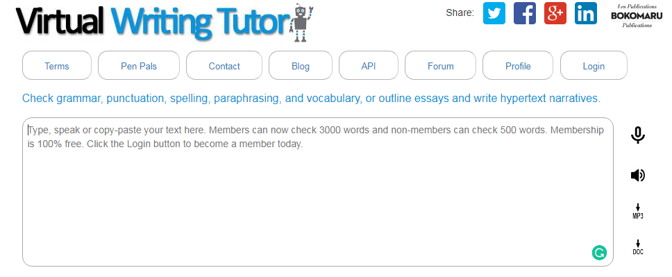 Free Grammar and Punctuation Checker and Corrector Tools