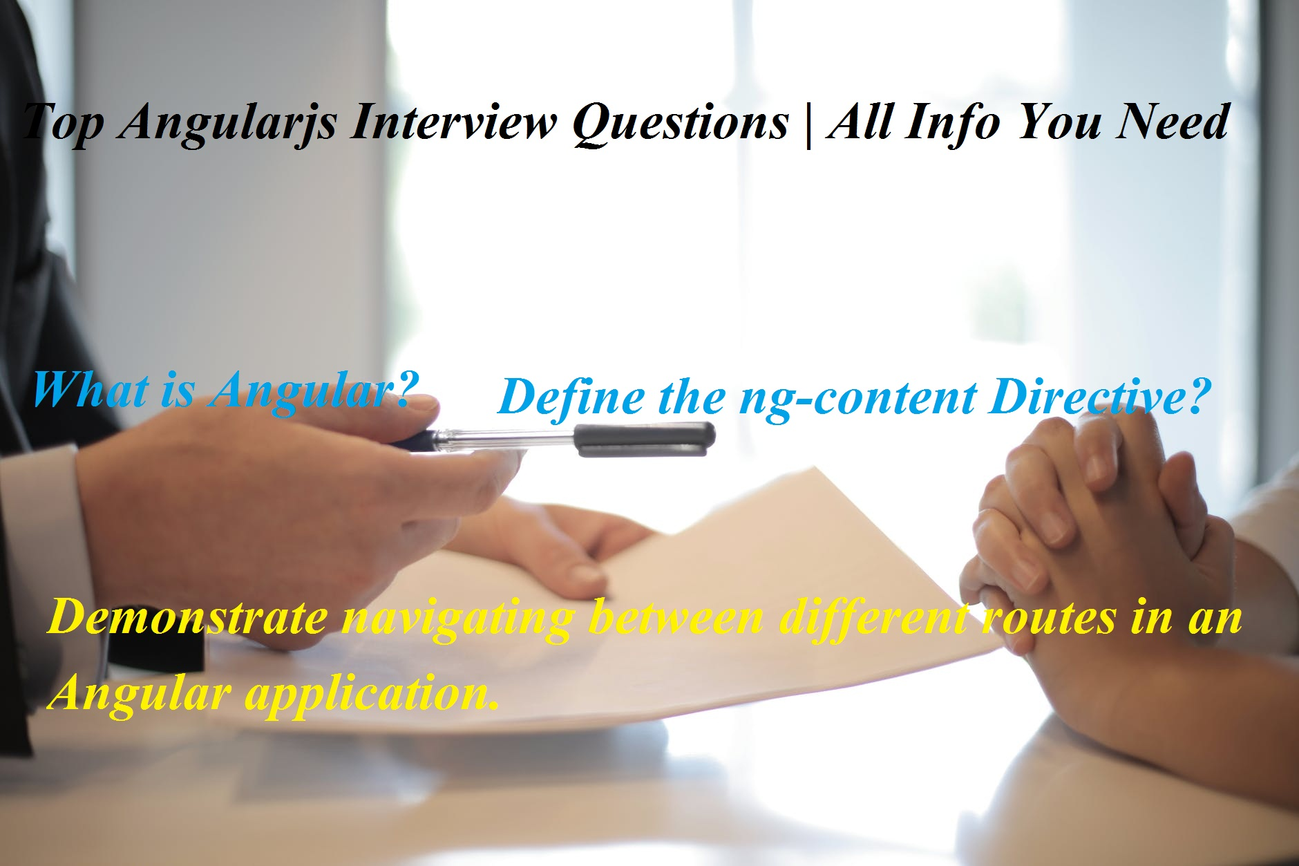 Angularjs Interview Questions