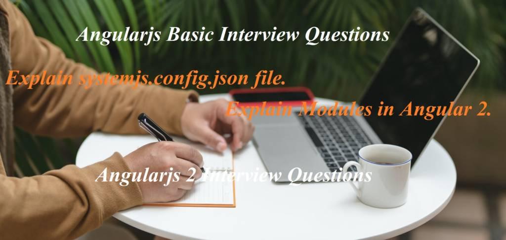 Angularjs 2 Interview Questions